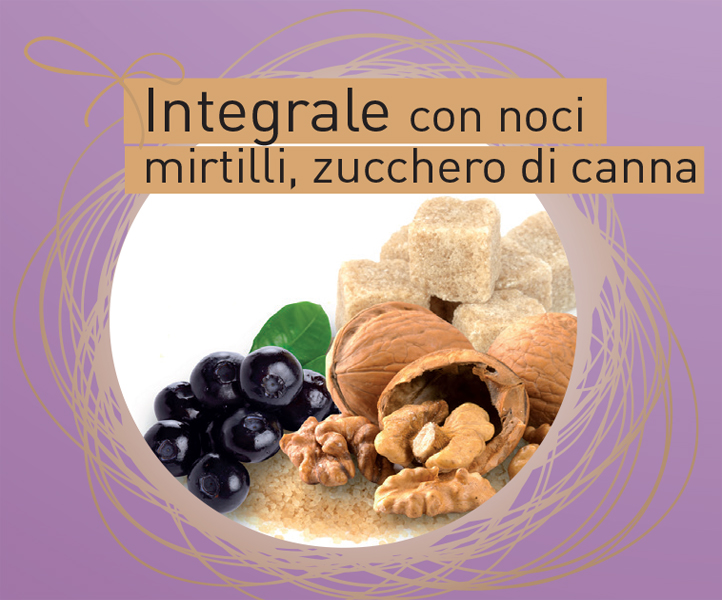 Colomba integrale con noci, mirtilli zucchero di canna